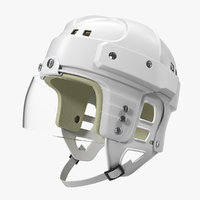 vintage ice hockey helmet 3D model