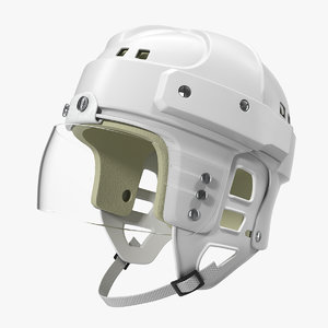 vintage ice hockey helmet 3D model