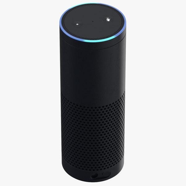 generic voice controlled speaker 3D