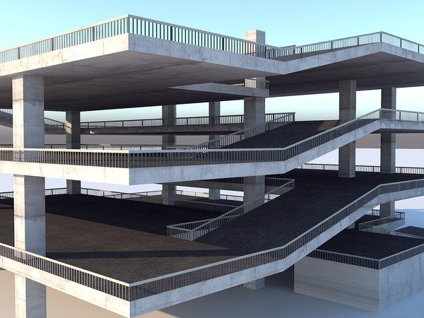 3D multi - storey car park