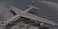 plane convair b-36h peacemaker 3D model