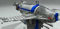 3D lego rebel bomber 8 model