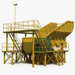 rock crusher machine 3D model