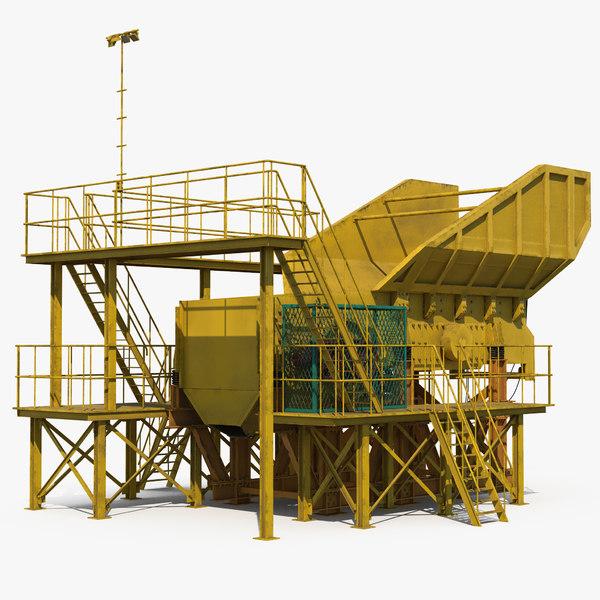 rock crusher machine 3D model