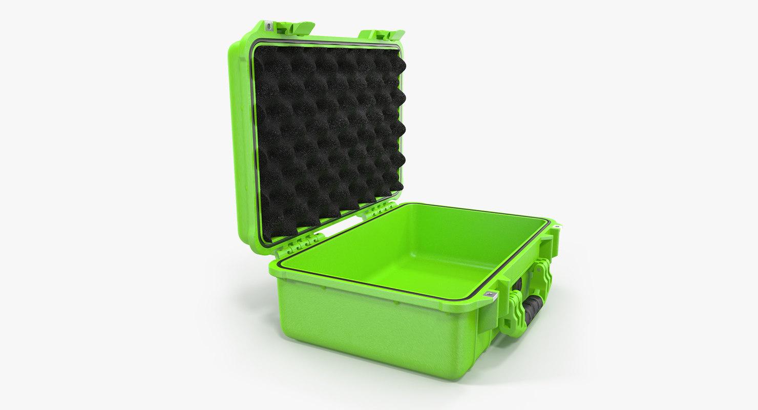 3D model open waterproof case