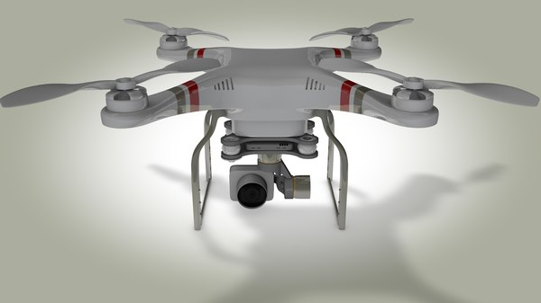 3D drone cam model