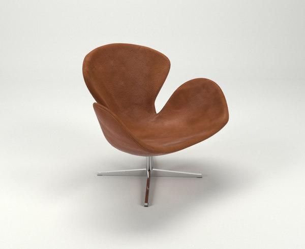 swan chair 3D