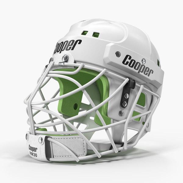hockey helmet face mask 3D model