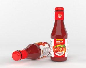 ketchup bottle 3D