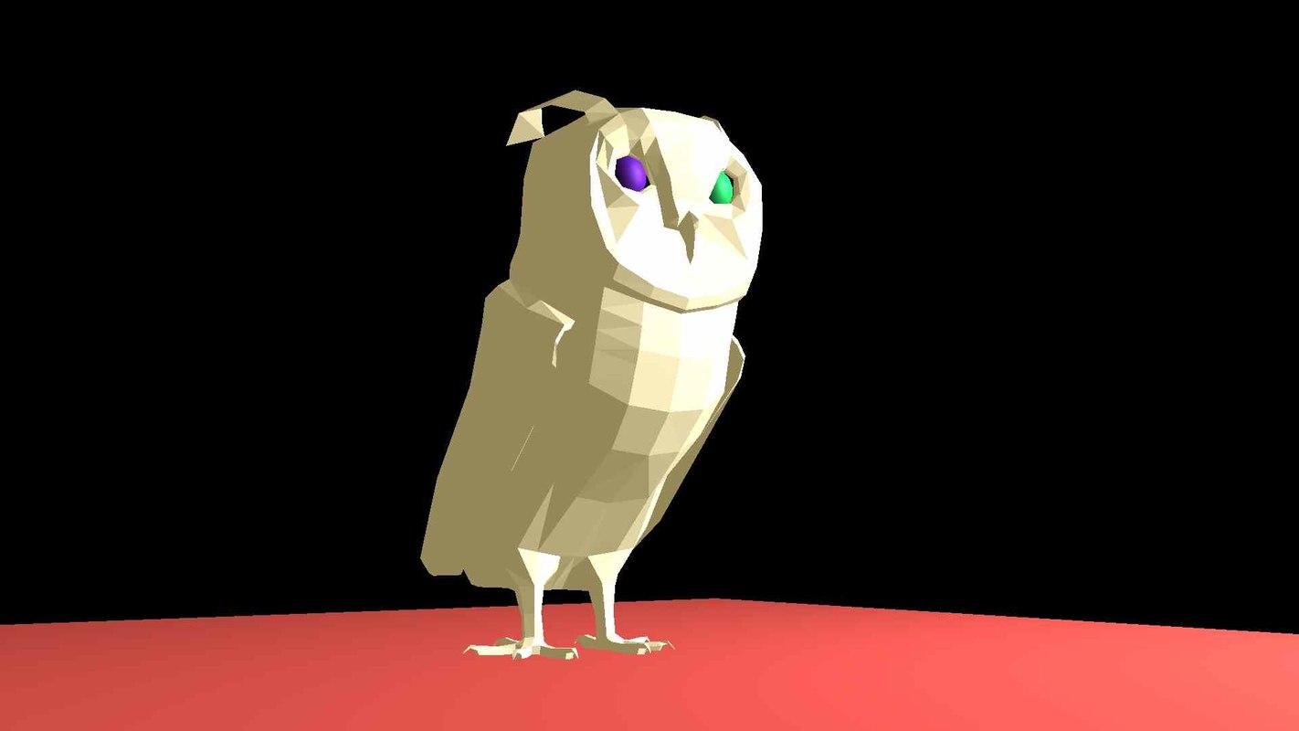 owl bird 3D model