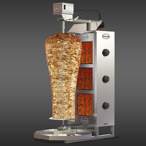 3D kebab machine model