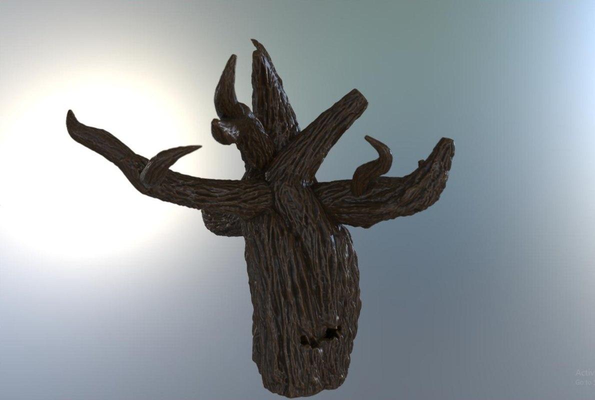 tree sculpted 3D