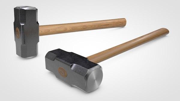 3D sledgehammer sledge hammer