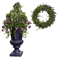 3D vase wreath