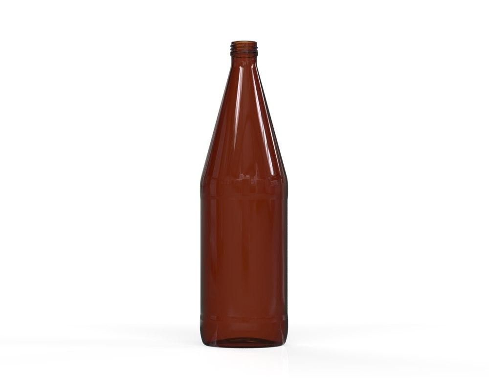 3D glass bottle 64 model