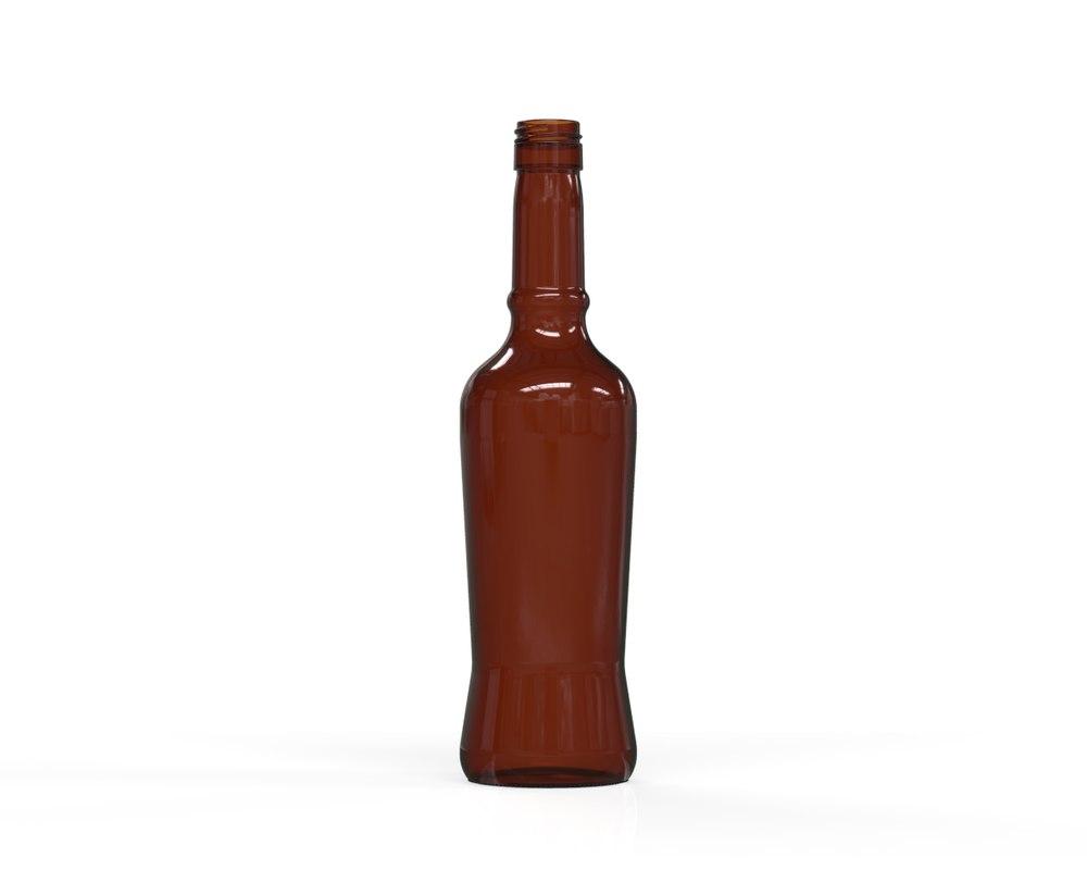 3D glass bottle 67 model