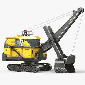 mining rope shovel 3D model