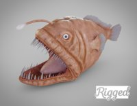 3D model rigged angler