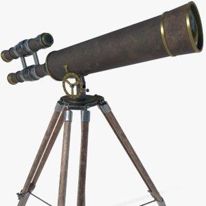 telescope antique 3D model
