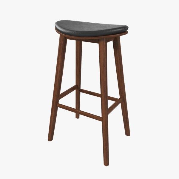 3D 1 bar stool model