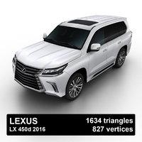 2016 lexus lx suv 3D model