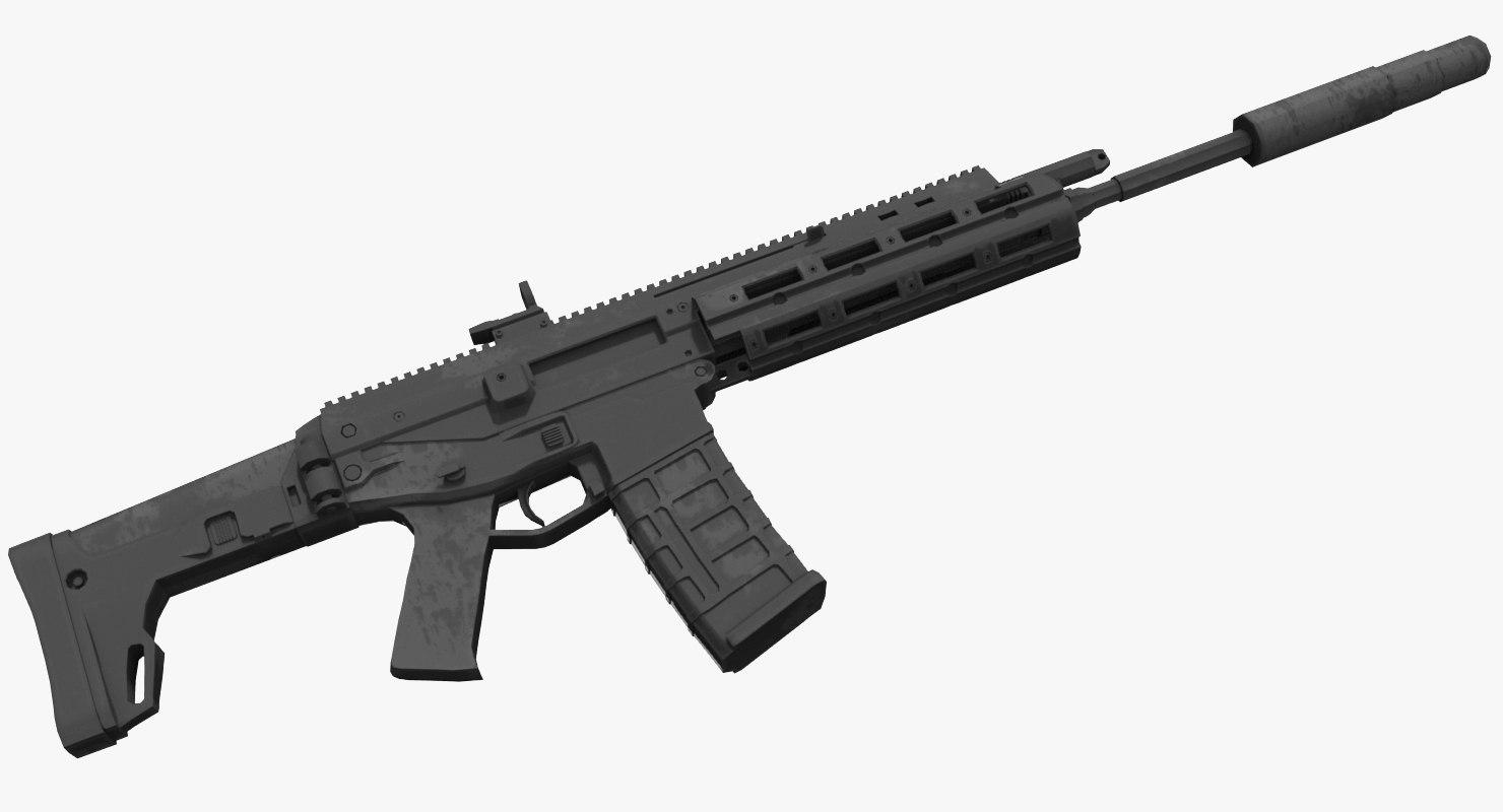 3D acr rifle model