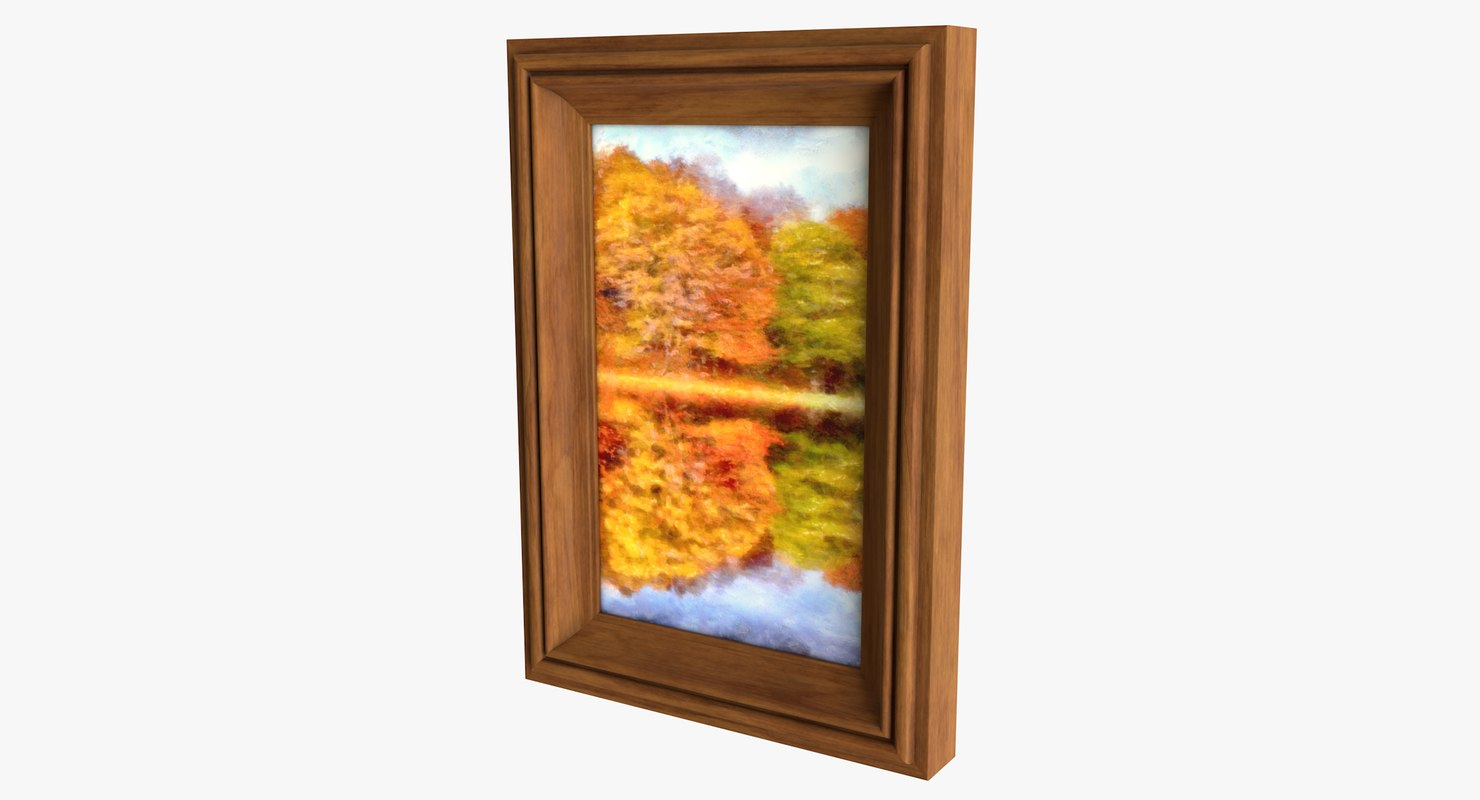 3D model realistic oil painting