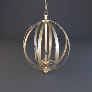 3D pendente dourado model