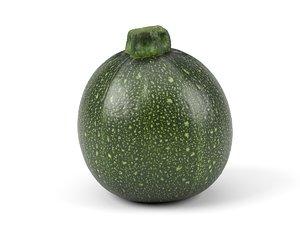 photorealistic scanned zucchini 3D model