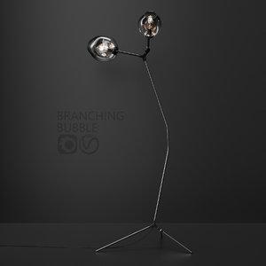 branching floor lamp lindsey 3D model