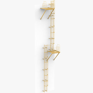industrial stair 3D model