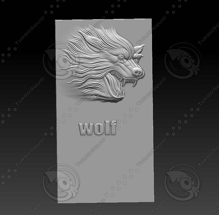 3D relief sculpture engraving