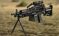 3D m249 machine gun model