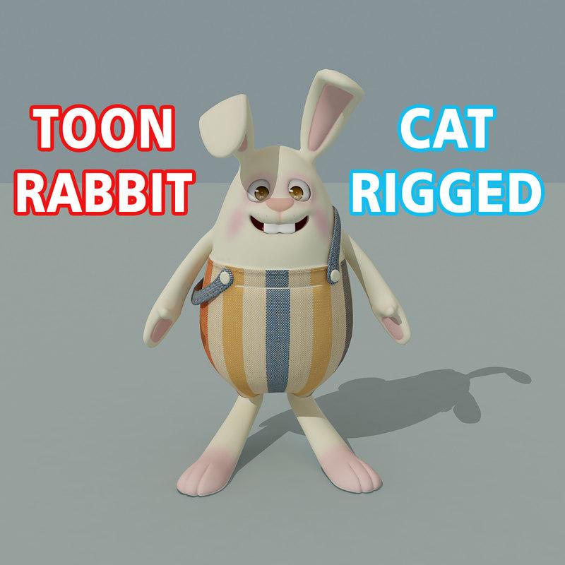 3D toon rabbit model