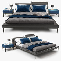 bed natuzzi vela 3D model
