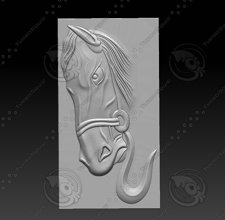 stl horse head 3D model
