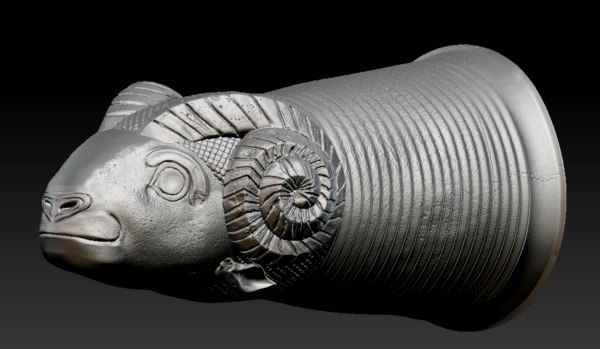 3D zbrush silver