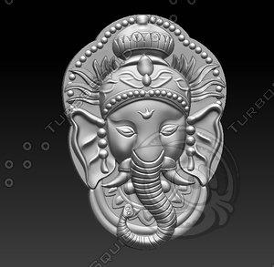 3D relief sculpture engraving model