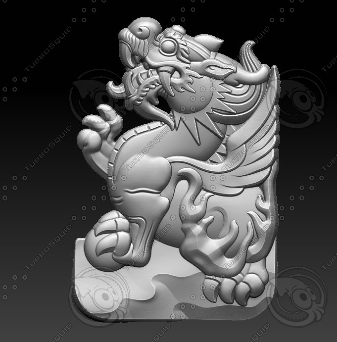 3D stl dragon model