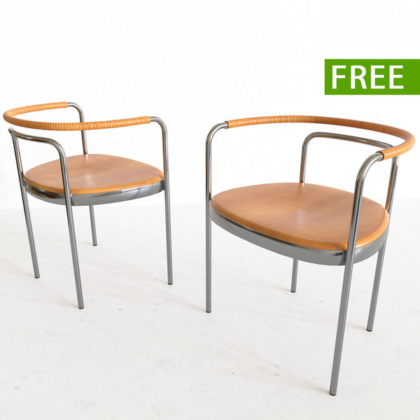 3D chair metal wood model