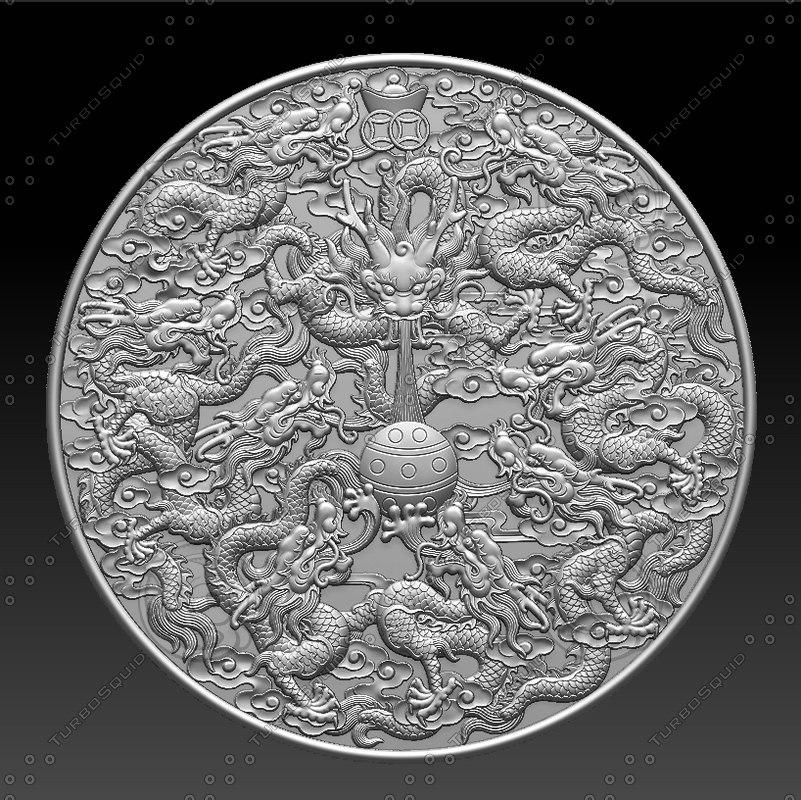 3D engraving relief sculpture