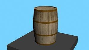 3D wood barrel model