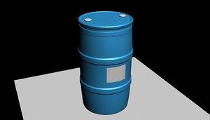 3D plastic barrel