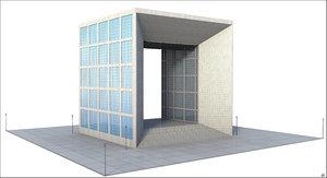 3D la grande arche building model
