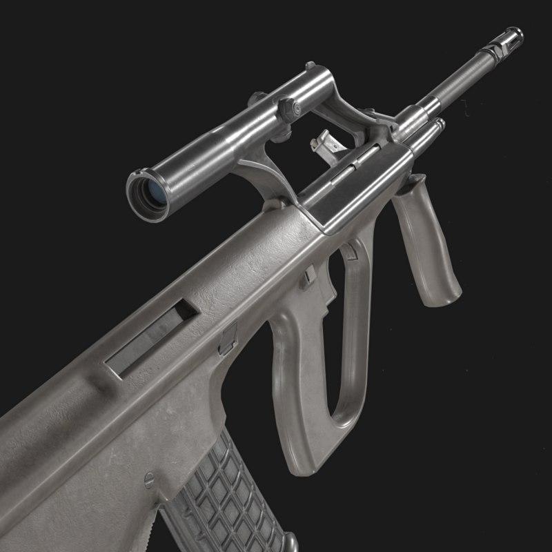 steyr aug a1 assault rifle 3D