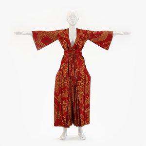 kimono hakama 3D model