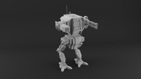 3D battle robot model