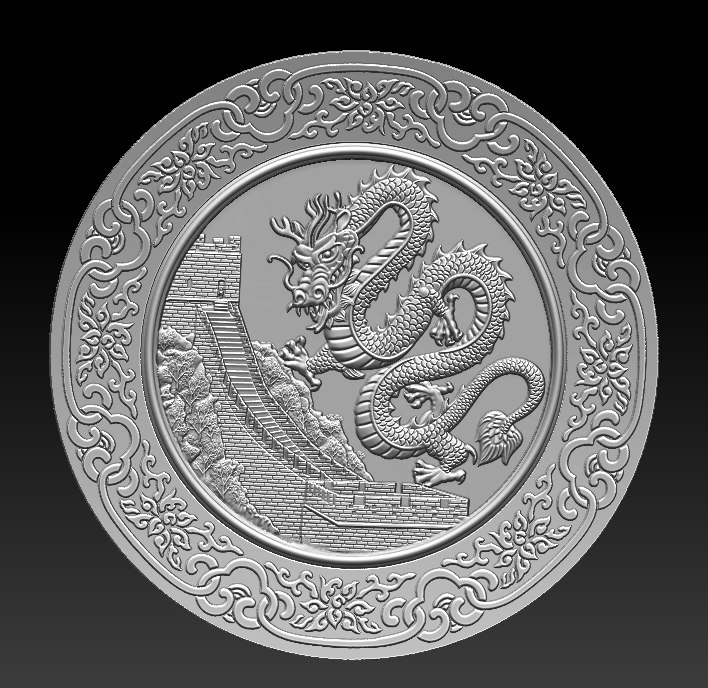 3D stl dragon