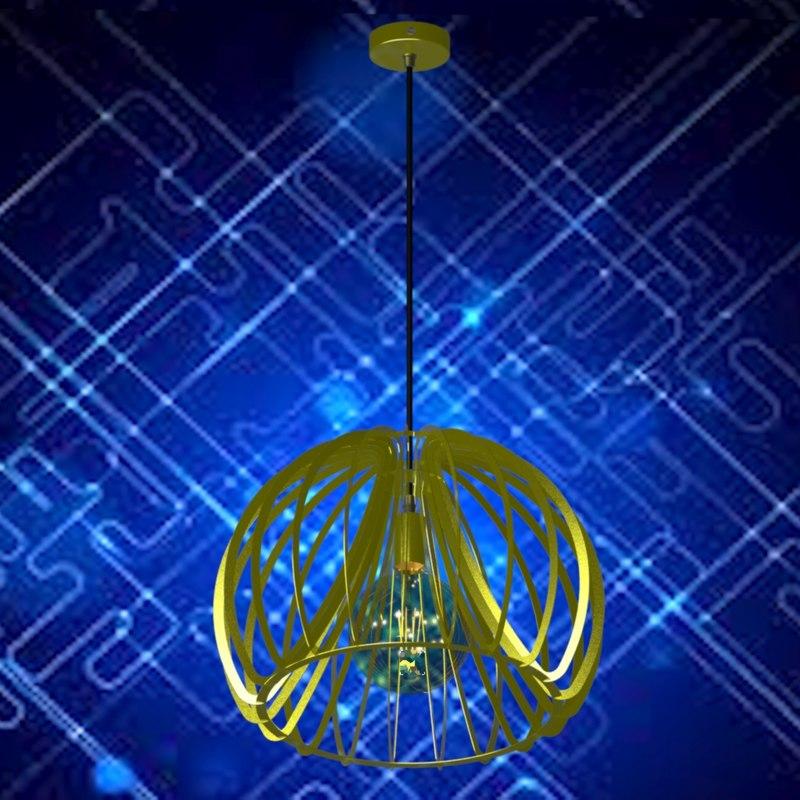 3D loft vintage lamp