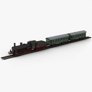 3D model piko toy train